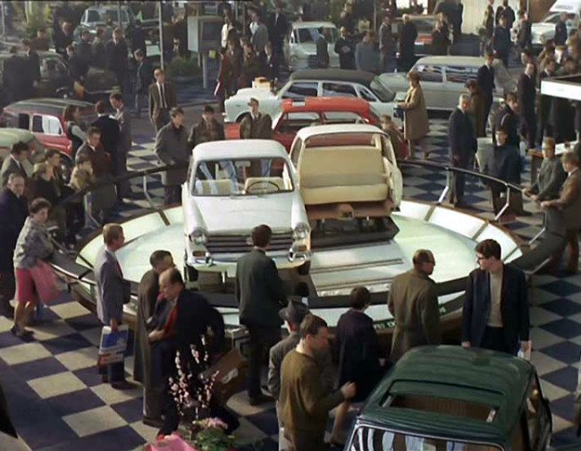 """A still from """"Trafic,"""" Jacques Tati's 1971 film. Photo: © Columbia Pictures"""