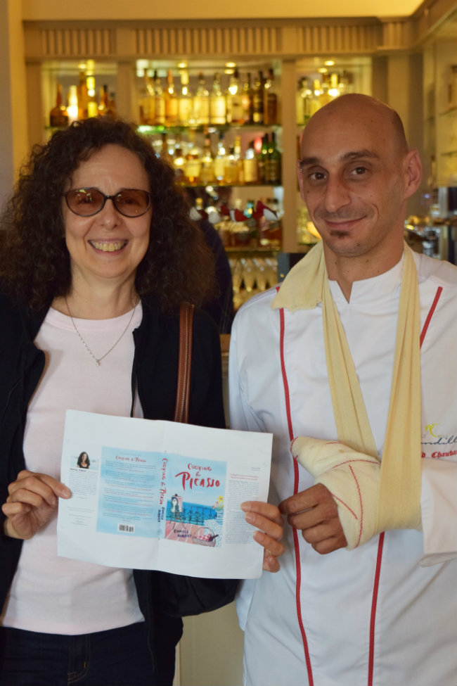 Author Camille Aubray with Chef David Chauvac of Le Mas Candille