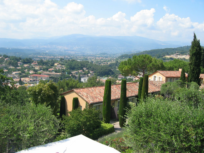 A view from a mas hotel in Mougins, France