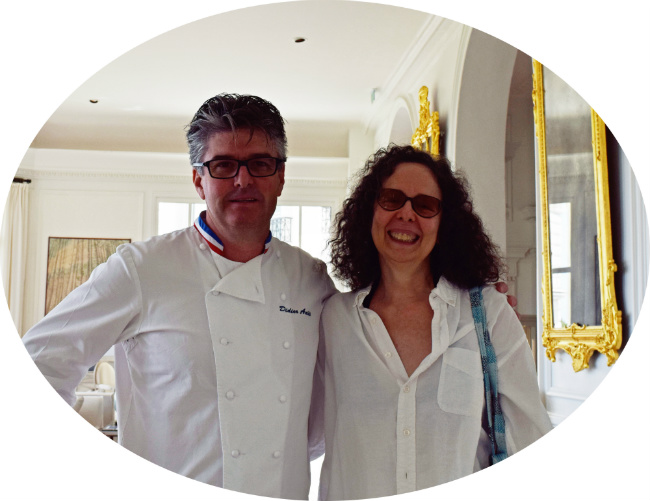 Author Camille Aubray with Chef Didier Aniès of the Grand Hotel du Cap Ferrat
