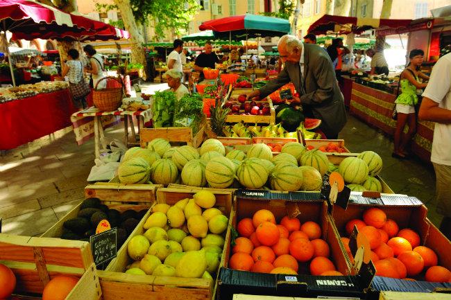 The market in Aix-en-Provence