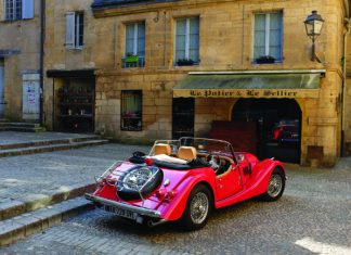 Morgan classic car, southwest France