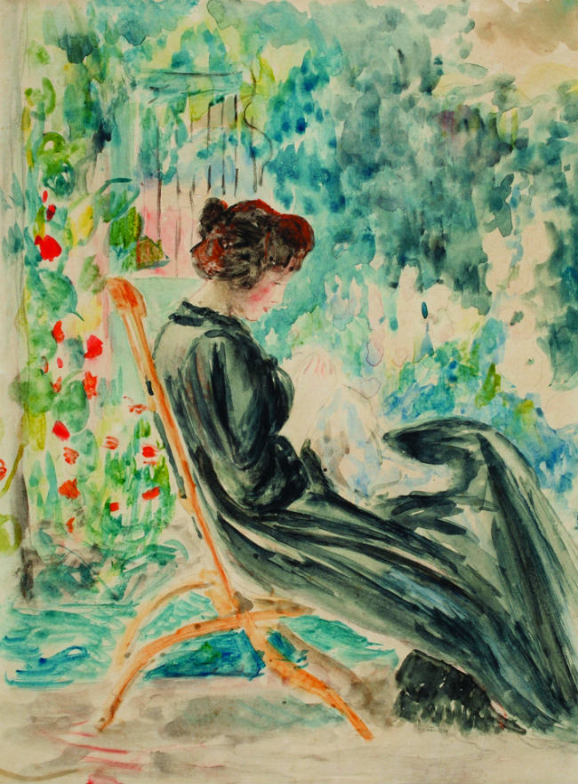 Daughter, Geneviève, in the garden by Julie Manet