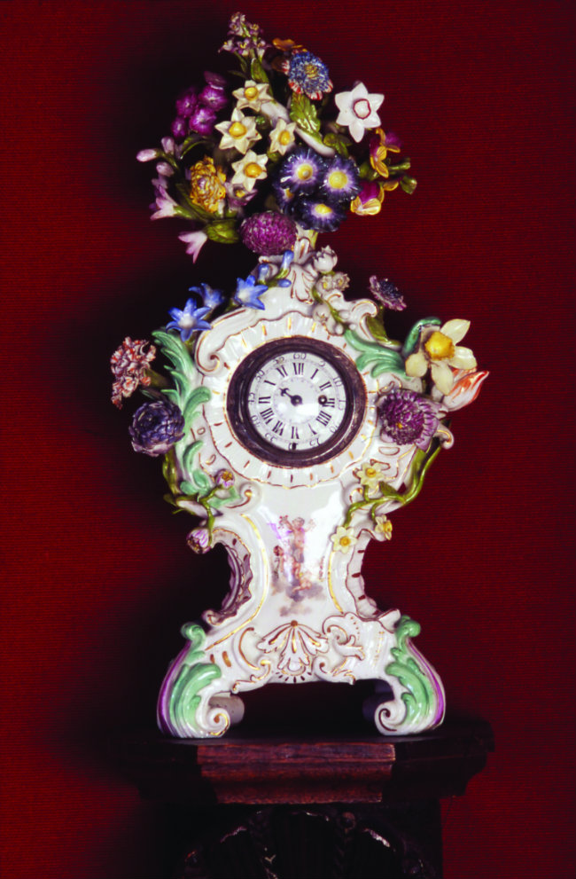 The Dresden clock, a gift from Mallarmé to his wife