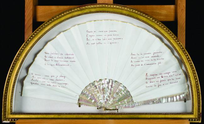 Fan with poem by Mallarmé