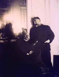 Mallarmé et Renoir, photo by Degas