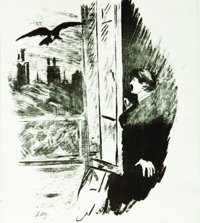 """Manet's """"le corbeau."""""""