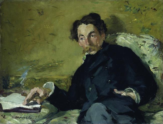 Edouard_Manet's portrait of Stéphane Mallarmé