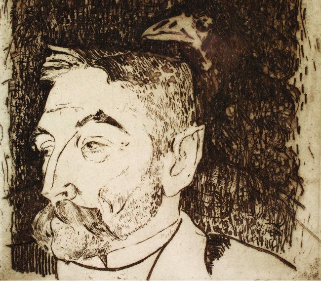 Portrait of Mallarmé by Gauguin