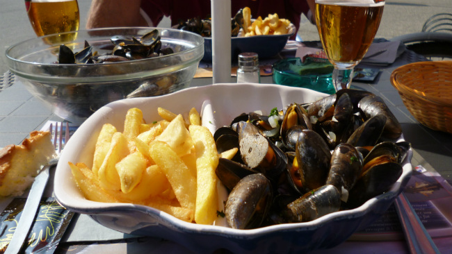 moules frites from the Mont Saint-Michel Bay