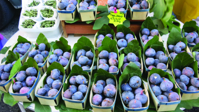 figs at the market in Vaison