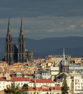 Clermont-Ferrand, medieval capital of the Auvergne, hosts the annual International Short Film Festival in February. Photo © 2016, Richard L. Alexander