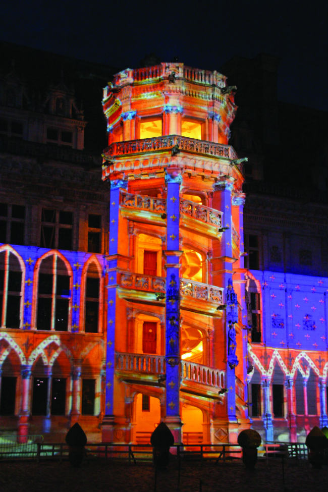 The Sound and Light Festival at Blois. Photo: D Lepissier