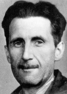 Picture of George Orwell which appears in an old accreditation for the BNUJ. Courtesy of © BNUJ & Creative Commons