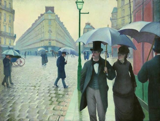 Caillebotte's Paris Street, Rainy Day