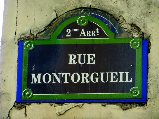 Rue Montorgueil in the 2nd arrondissement.