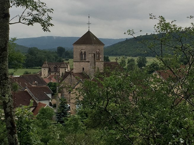 The medieval village of Fleurey-sur-Ouche, a short walk from our canal mooring.