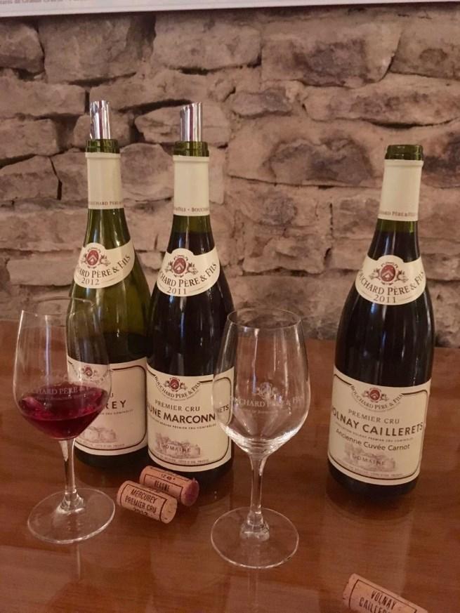 A cellar tasting at Bouchard Pere & Fils.