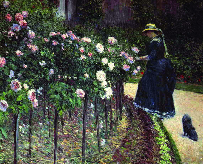 Caillebotte's Roses in the Garden at Petit-Gennevilliers