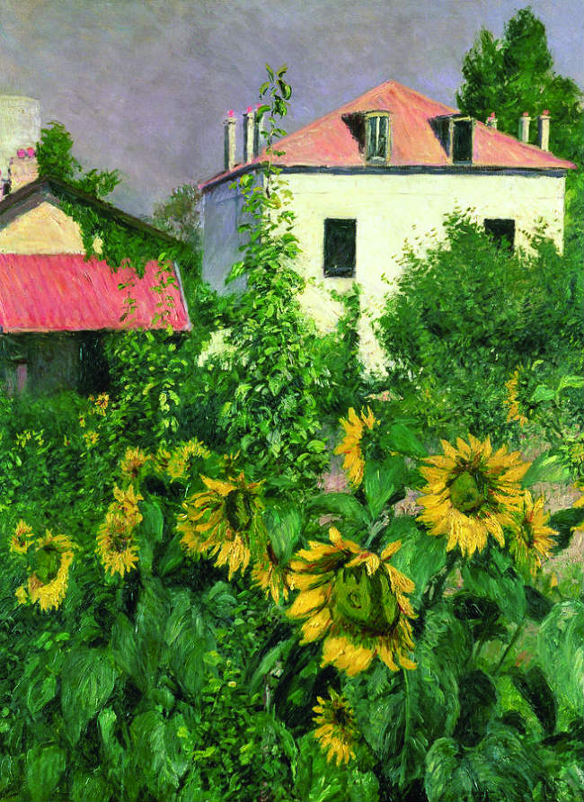 "Gustave Caillebotte's ""Sunflowers, Garden at Petit Gennevilliers"""