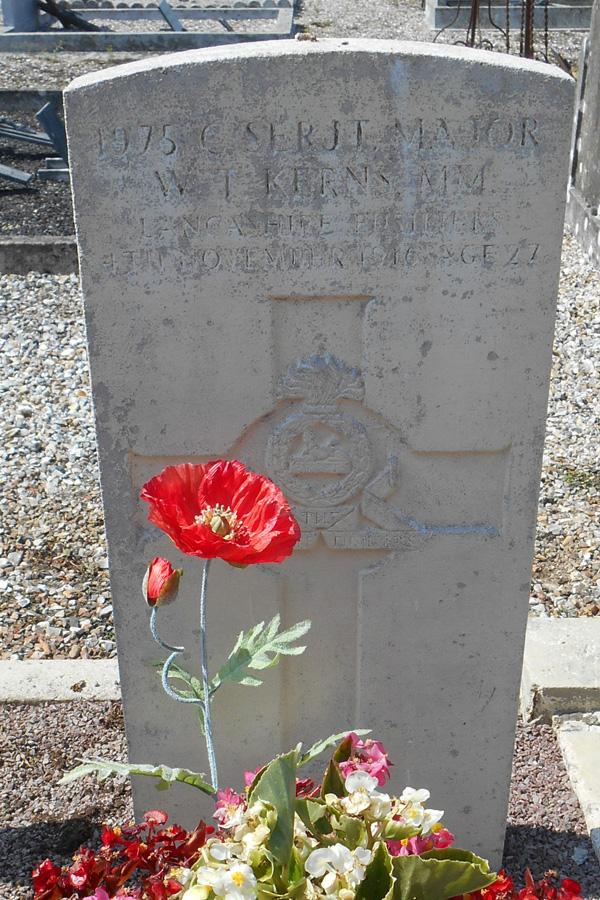 Segeant-Major W.T. Kerns, M.M. Lancashire Fusiliers, photo: Nigelle de Visme