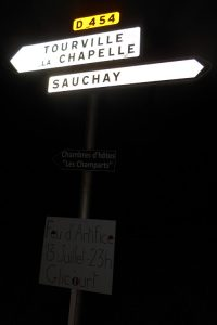 Road sign in France