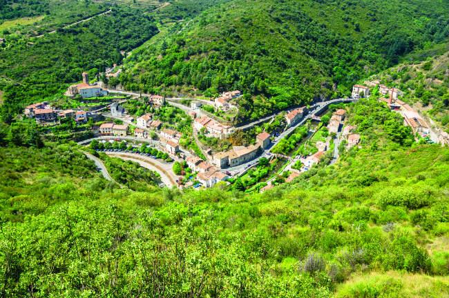 The commune of Lastours is famous for its hilltop castles