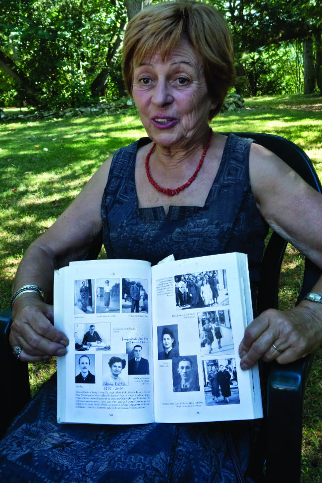 Jocelyne Sampietro, whose parents fought in the Resistance