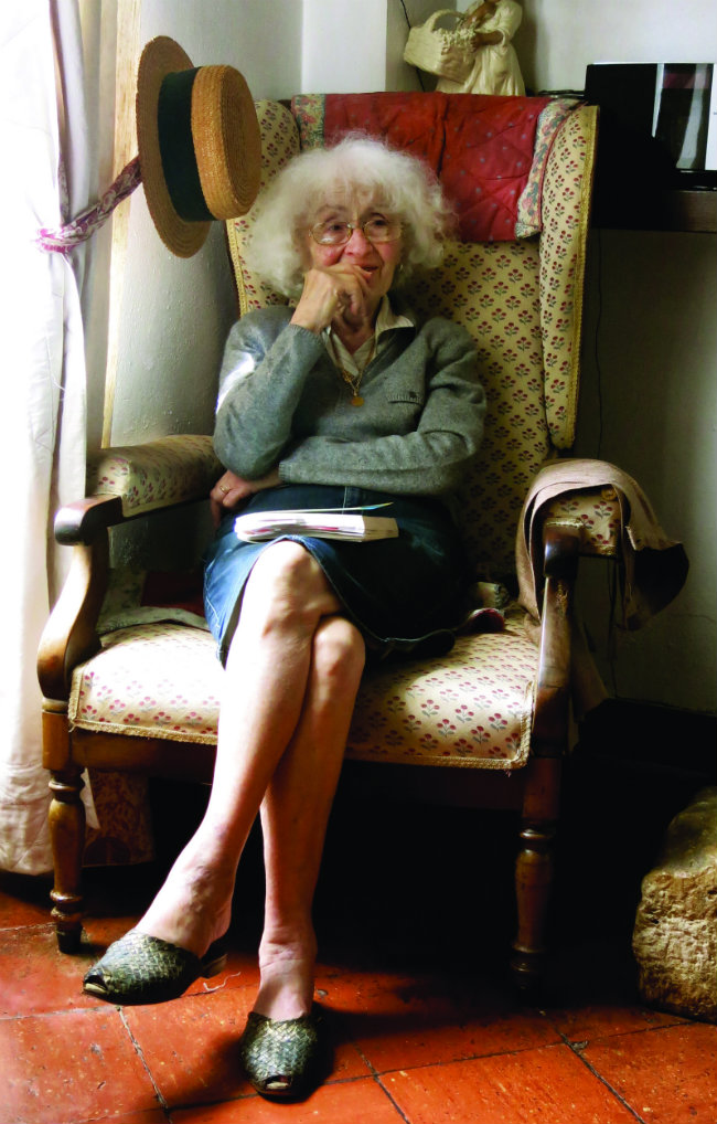 "Madame Lalanne, now aged 96: ""I remember ""I remember the Nazis coming to the door and pounding on it with the butts of their rifles."" Photo: Sue Aran"