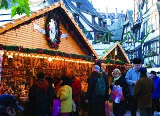 Christmas market in France