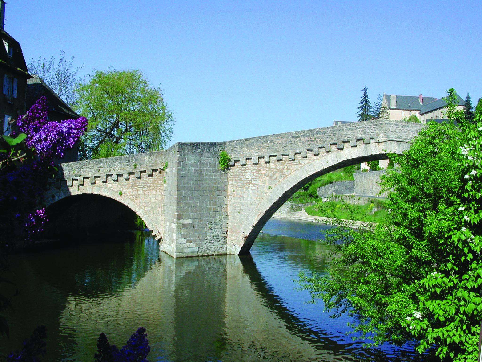 The 12th century Notre-Dame bridge in Mende