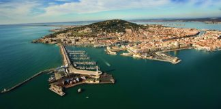 Aerial view of Sète