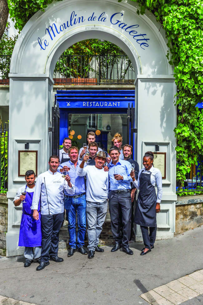 The team at the Moulin de la Galette