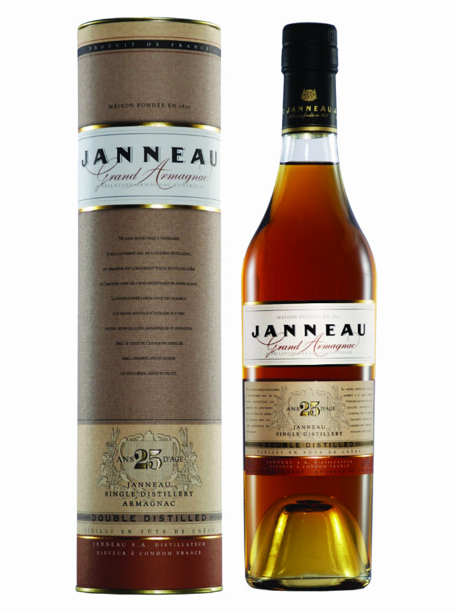 Janneau single distillery Armagnac