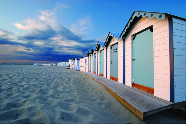Beach cabanas at Boulogne-sur-Mer