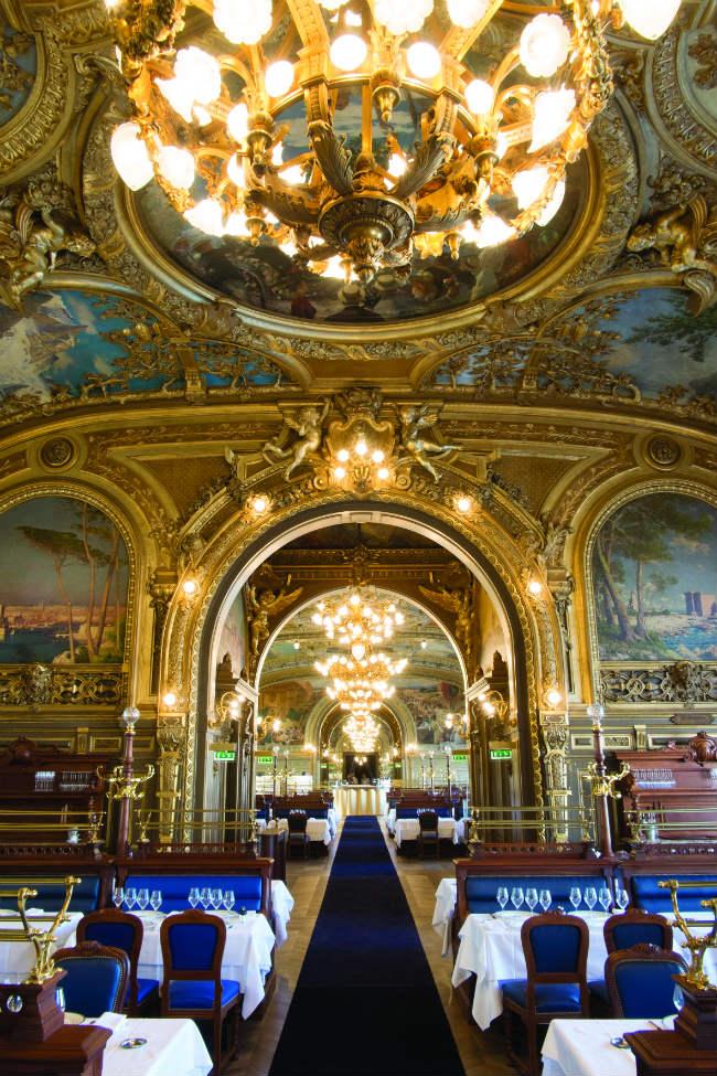 The opulent Train Bleu brasserie in the Gare de Lyon
