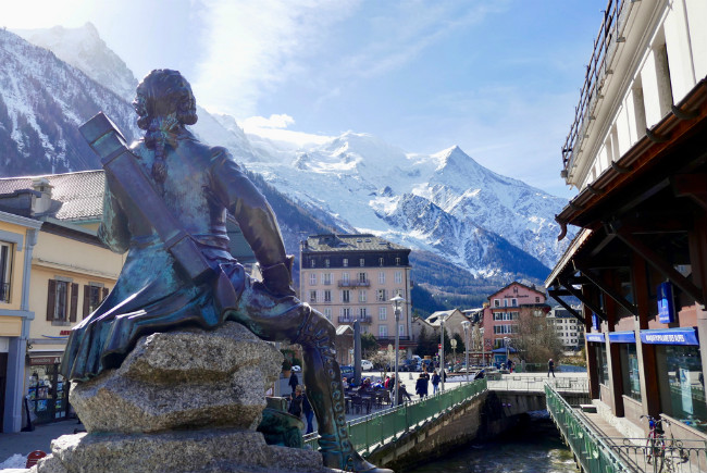 Sunshine in Chamonix