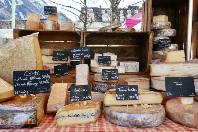 local cheeses, Chamonix