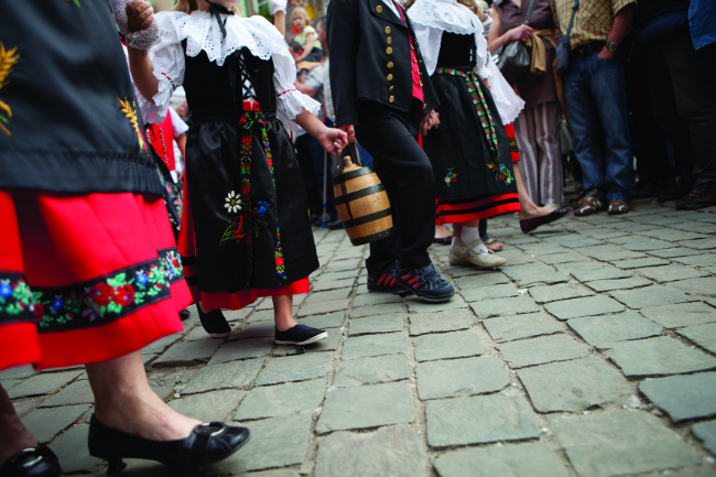Alsace wine festival costumes