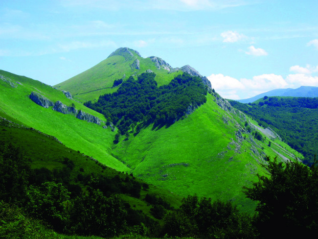 The hillside above the commune of Béhorléguy in Lower Navarre