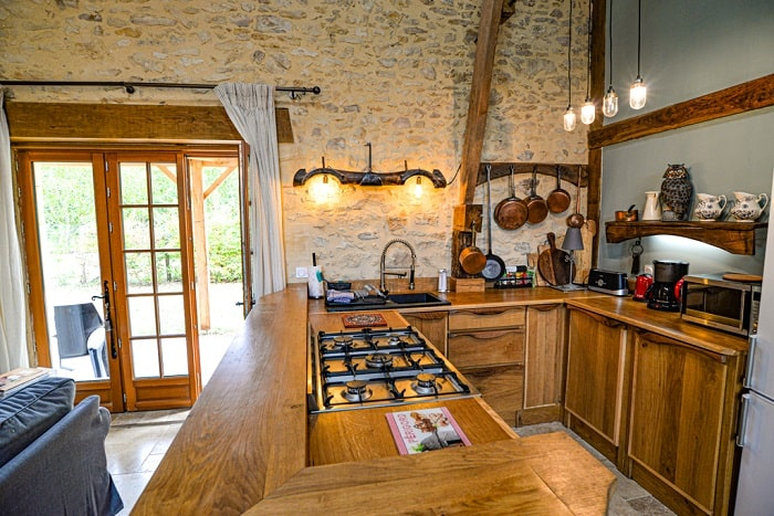 Beautiful hand crafted kitchen at the barn