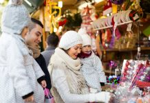 Christmas shopping with your family