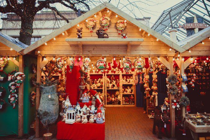 Festive Christmas stall