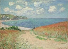 Claude Monet, Path in the Wheat Fields at Pourville (Chemin dans les blés à Pourville), 1882-min