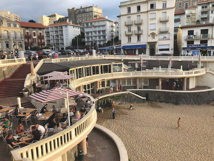Terrace of L'Arena, Biarritz