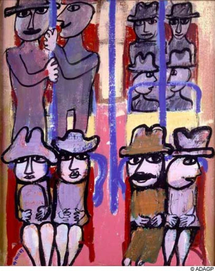 Subway, Jean Dubuffet