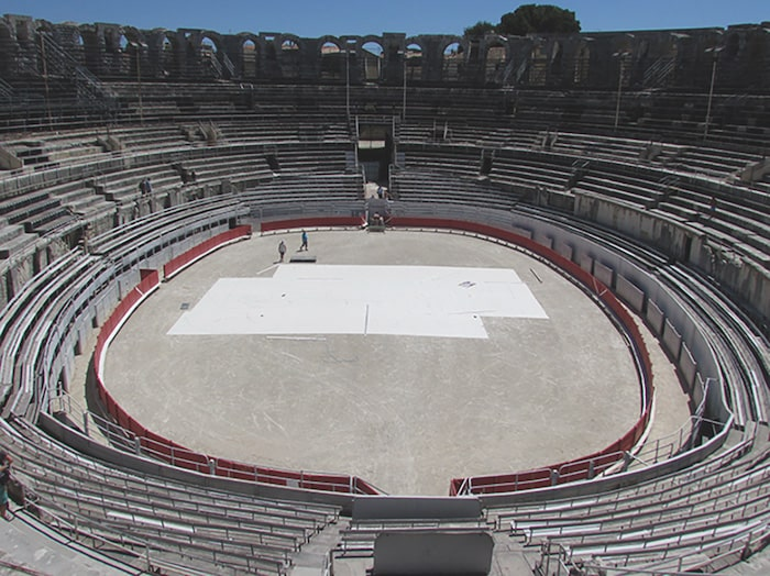 Arles Roman Arena ready for the Bull Races
