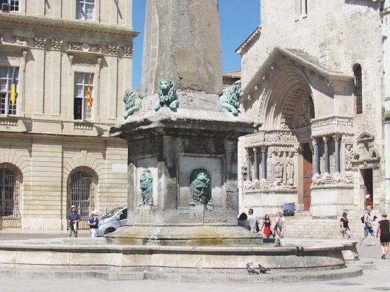 Arles obelisk outside Église Saint-Trophime