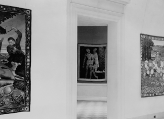 Installation view of the exhibition Modern French Tapestries at the San Francisco Museum of Art, 1939