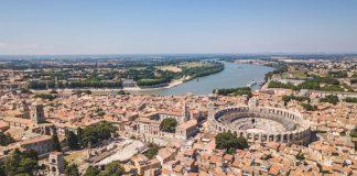 Arles aerial view